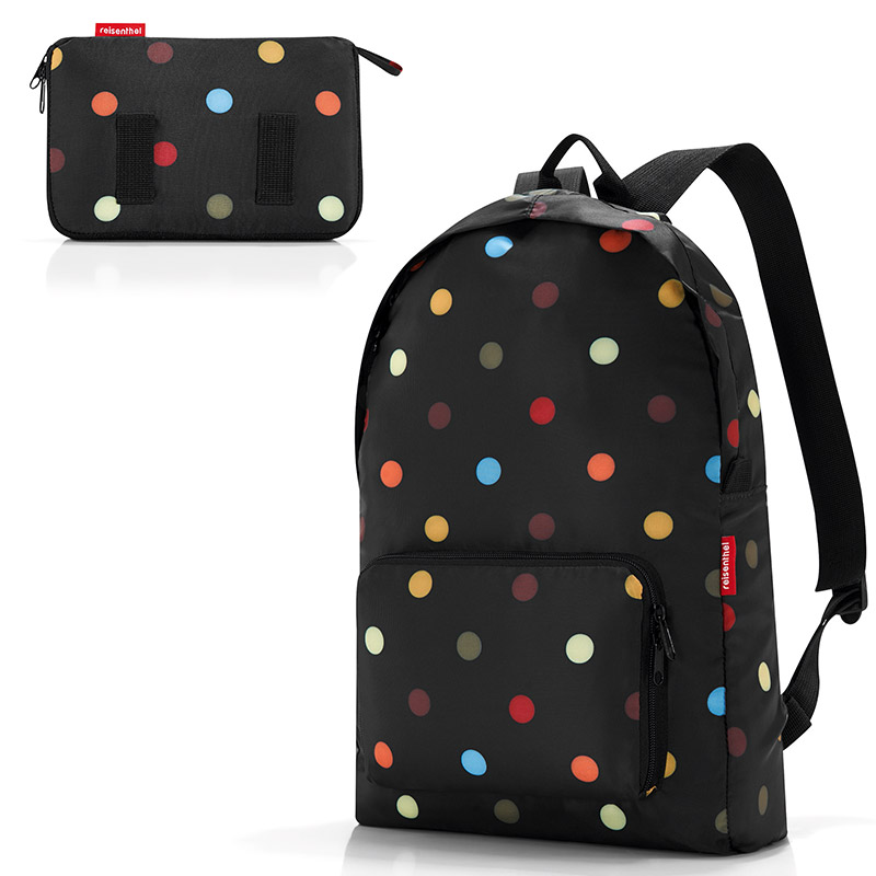 Рюкзак складной Mini maxi Multi dots, 30x11 см, 45 см, 14 л, Полиэстер, Reisenthel, Германия