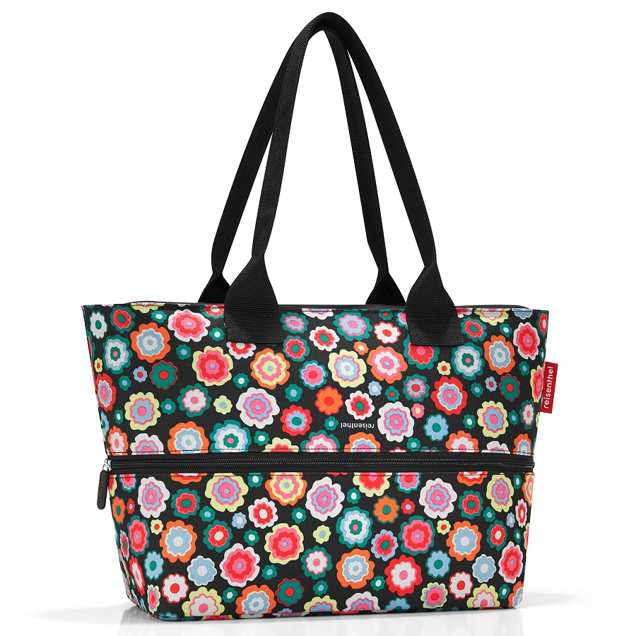 Сумка shopper E1 Happy Flowers, 50x20 см, 35 см, 18 л, Полиэстер, Reisenthel, Германия, Happy flowers