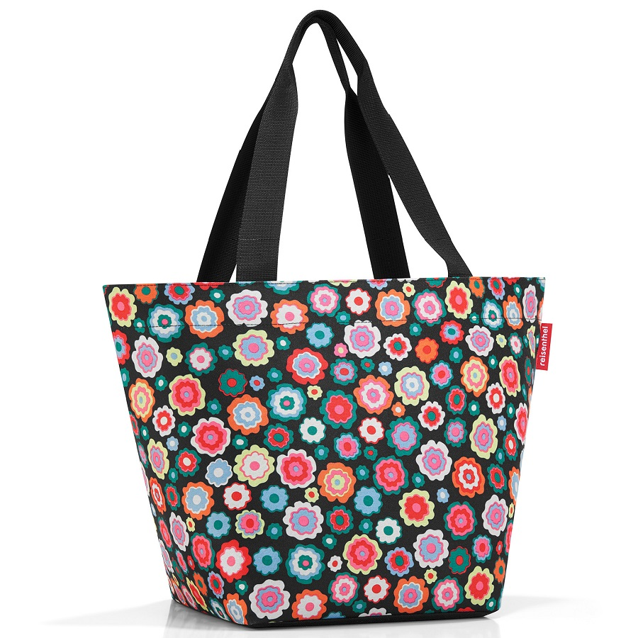 Сумка Shopper M Happy Flowers, 30x26 см, 50 см, 15 л, Полиэстер, Reisenthel, Германия, Happy flowers