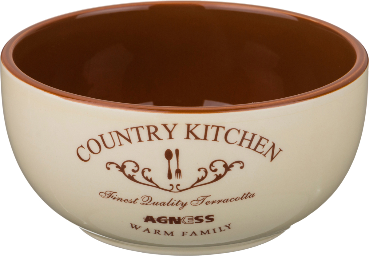 Пиала Country kitchen, 14 см, 7 см, Керамика, Agness, Германия, Country kitchen