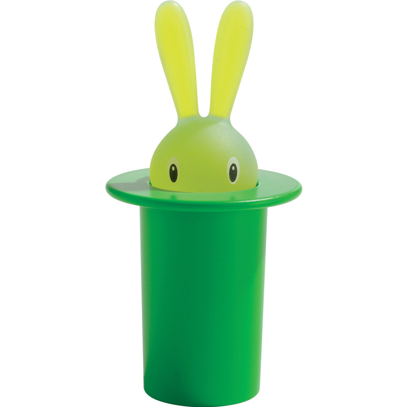 Футляр для зубочисток Magic bunny green, 8 см, 14 см, Пластик, Alessi, Италия