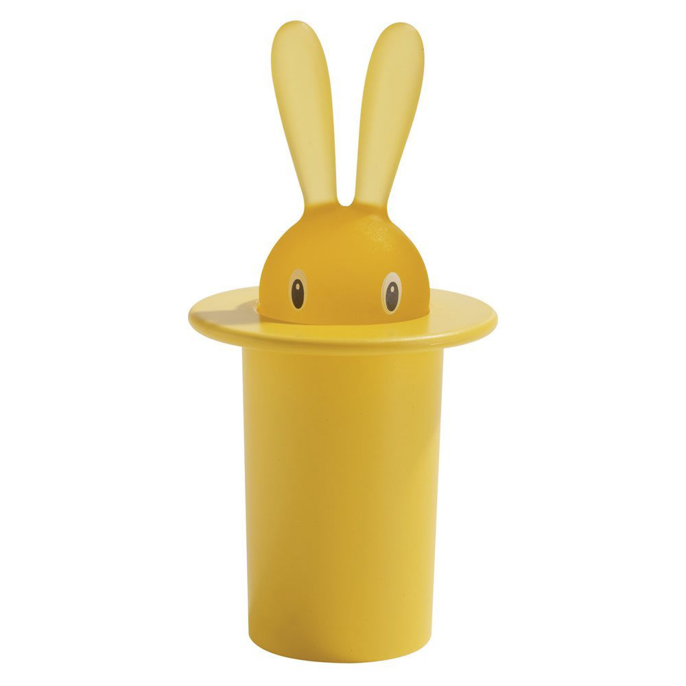 Футляр для зубочисток Magic bunny yellow, 8 см, 14 см, Пластик, Alessi, Италия