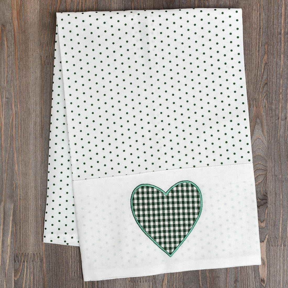 Полотенце Reesa Green Polka Dot, 50x70 см, Хлопок, Country Home Style, Австрия, Reesa Green