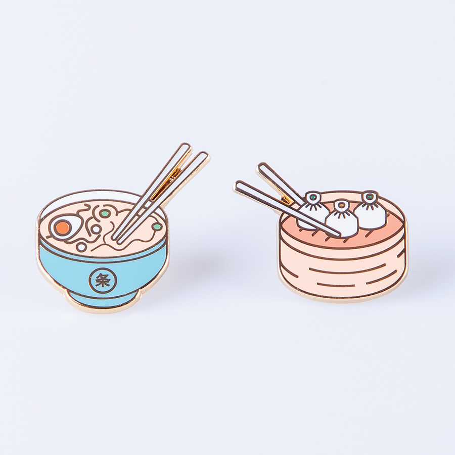 Набор булавок Pinaholic asian food, 2 шт., 13х7 см, Металл, Doiy, Испания