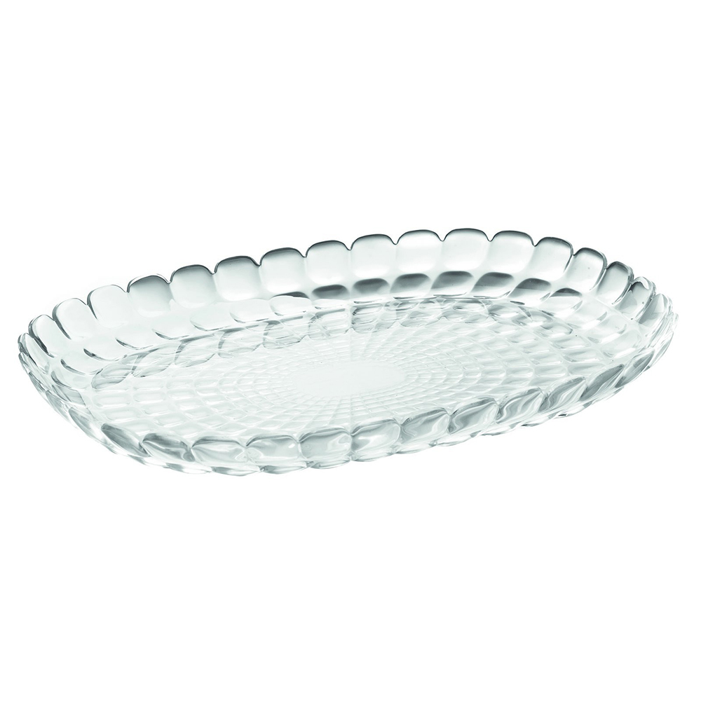 Поднос Tiffany Clear L, 45х31 см, 5 см, Пластик, Guzzini, Италия, Tiffany