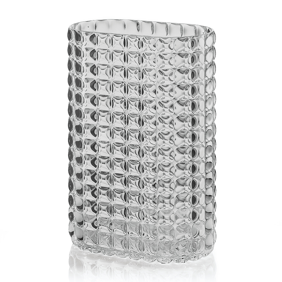 Ваза Tiffany Grey, 20x12 см, 29 см, Пластик, Guzzini, Италия