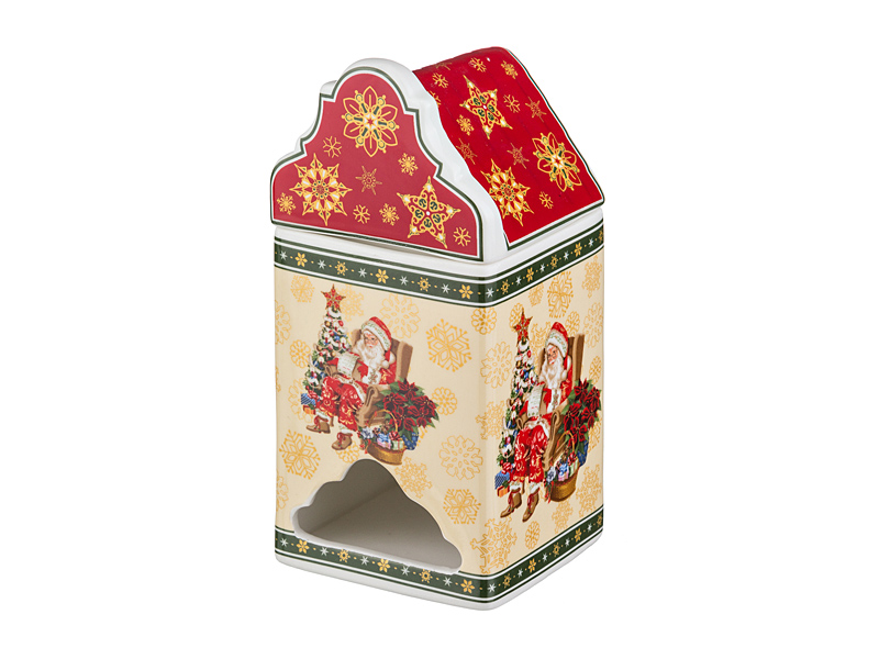 Банка для чайных пакетиков Christmas Collection, 9x9 см, 18 см, Фарфор, Lefard, Christmas Collection