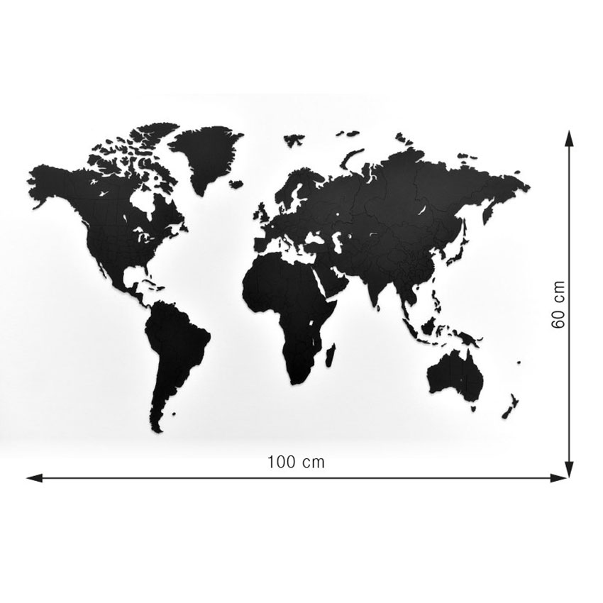 Пазл World map, 100х60 см, Картон, Mimi, Россия