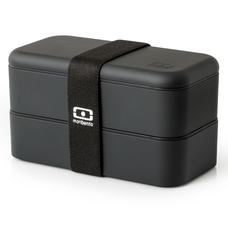 Ланч-бокс Mb Original Black, 19х9 см, 10 см, Пластик, Monbento, Франция