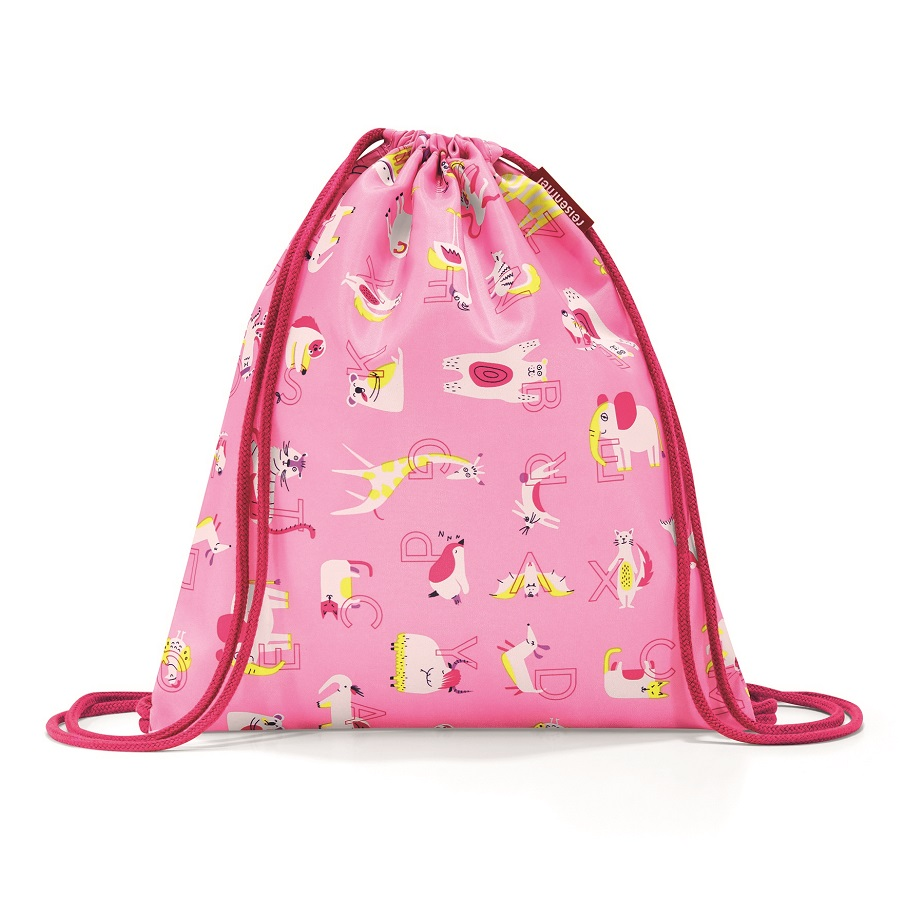 Мешок детский Mysac ABC Friends pink, 33x33 см, 5 л, Полиэстер, Reisenthel, Германия, Friends pink