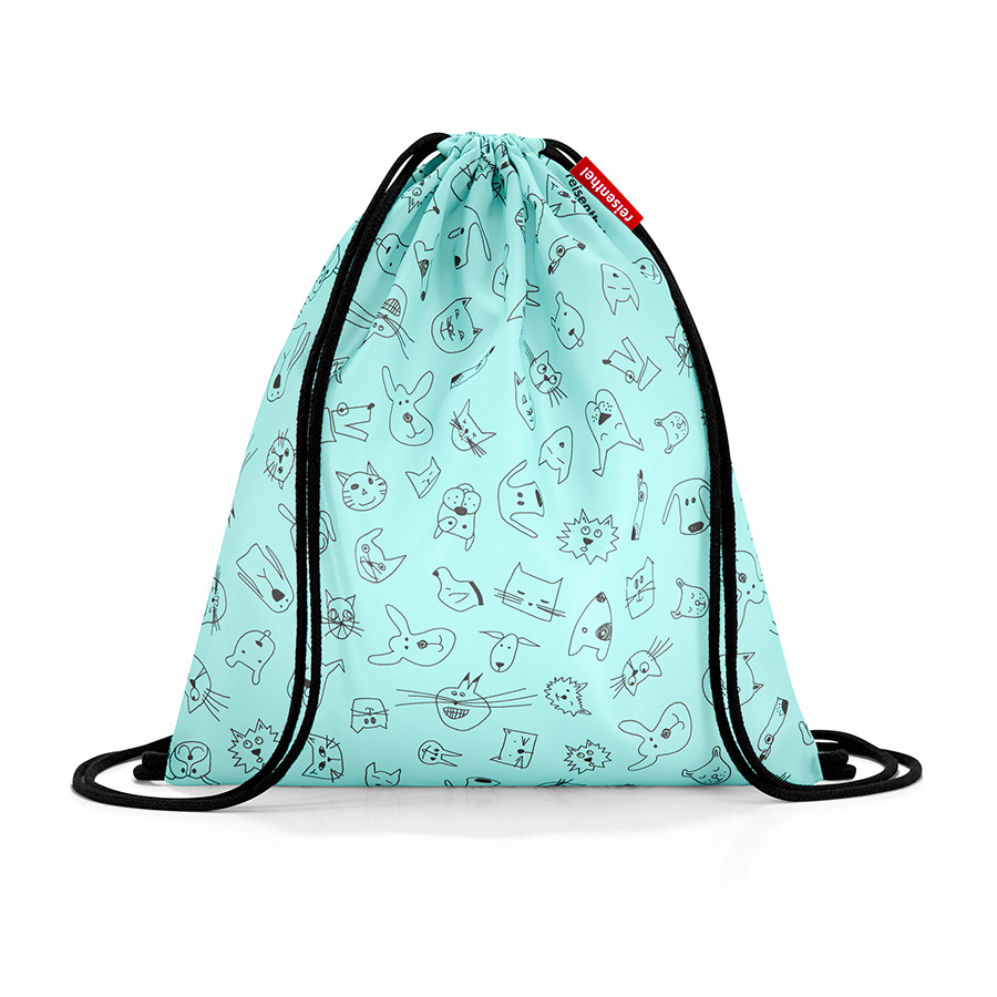 Мешок детский Mysac Cats and dogs Mint, 30х34 см, Полиэстер, Reisenthel, Германия, Cats and Dogs