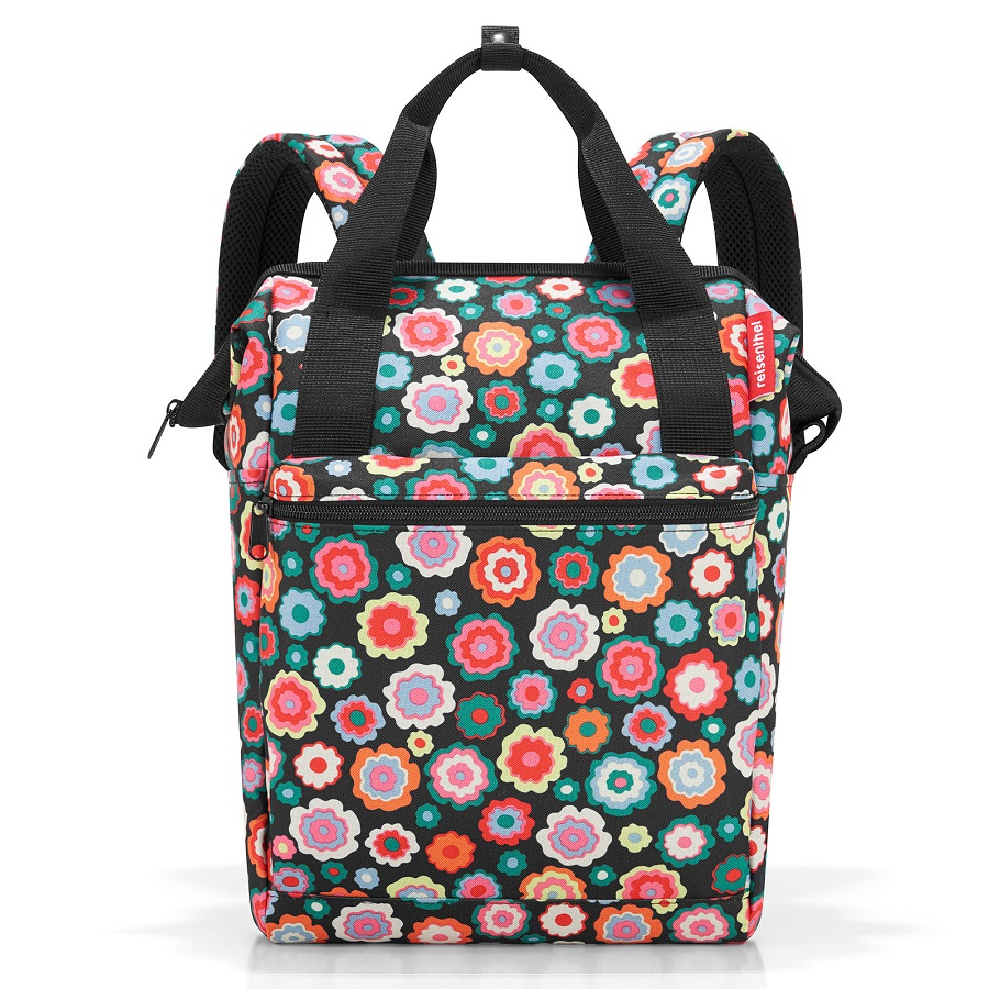 Рюкзак Allrounder R Happy Flowers dark, 26x15 см, 40 см, 12 л, Полиэстер, Reisenthel, Германия, Happy flowers