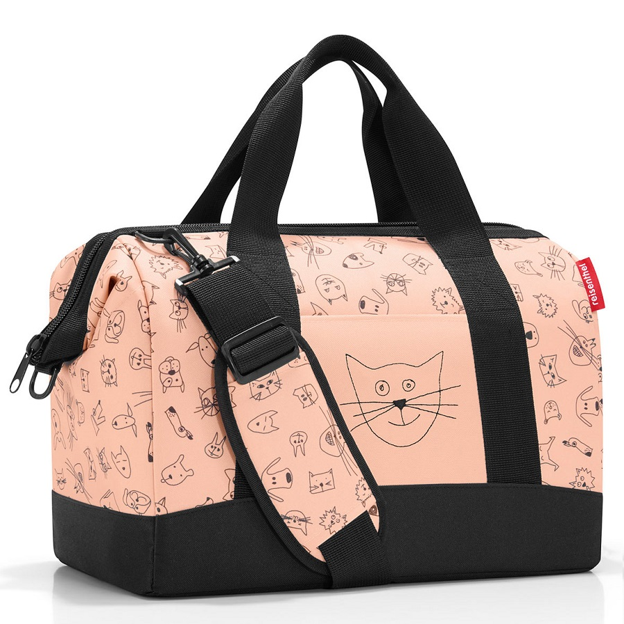 Сумка детская Allrounder m Cat and dogs pink, 40x25 см, 18 л, 35 см, Полиэстер, Reisenthel, Германия, Cats and Dogs