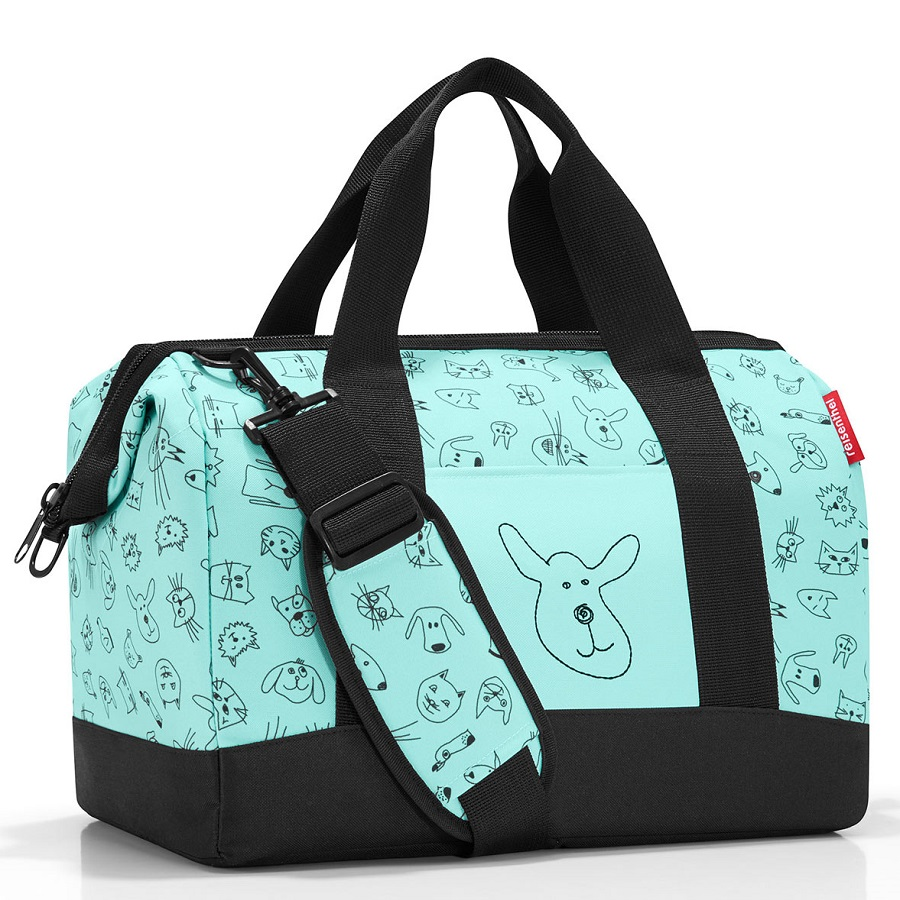 Сумка детская Allrounder m Cats and dogs mint, 40x25 см, 18 л, 35 см, Полиэстер, Reisenthel, Германия, Cats and Dogs