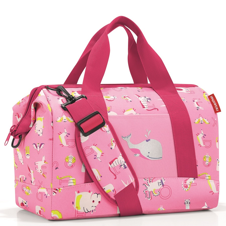 Сумка детская Allrounder m Abc friends pink, 40x25 см, 18 л, 35 см, Полиэстер, Reisenthel, Германия, Friends pink