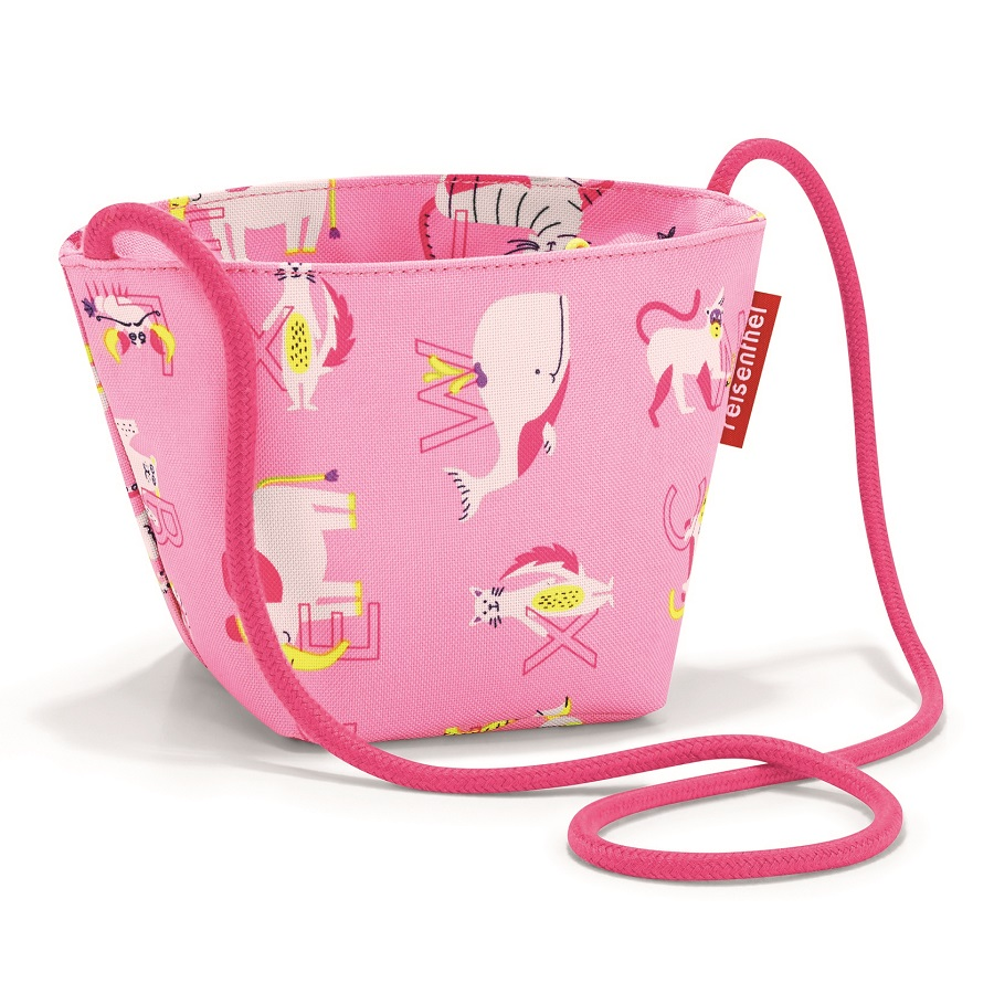 Сумка детская Minibag Abc friends pink, 12x10 см, 21 см, Полиэстер, Reisenthel, Германия, Friends pink