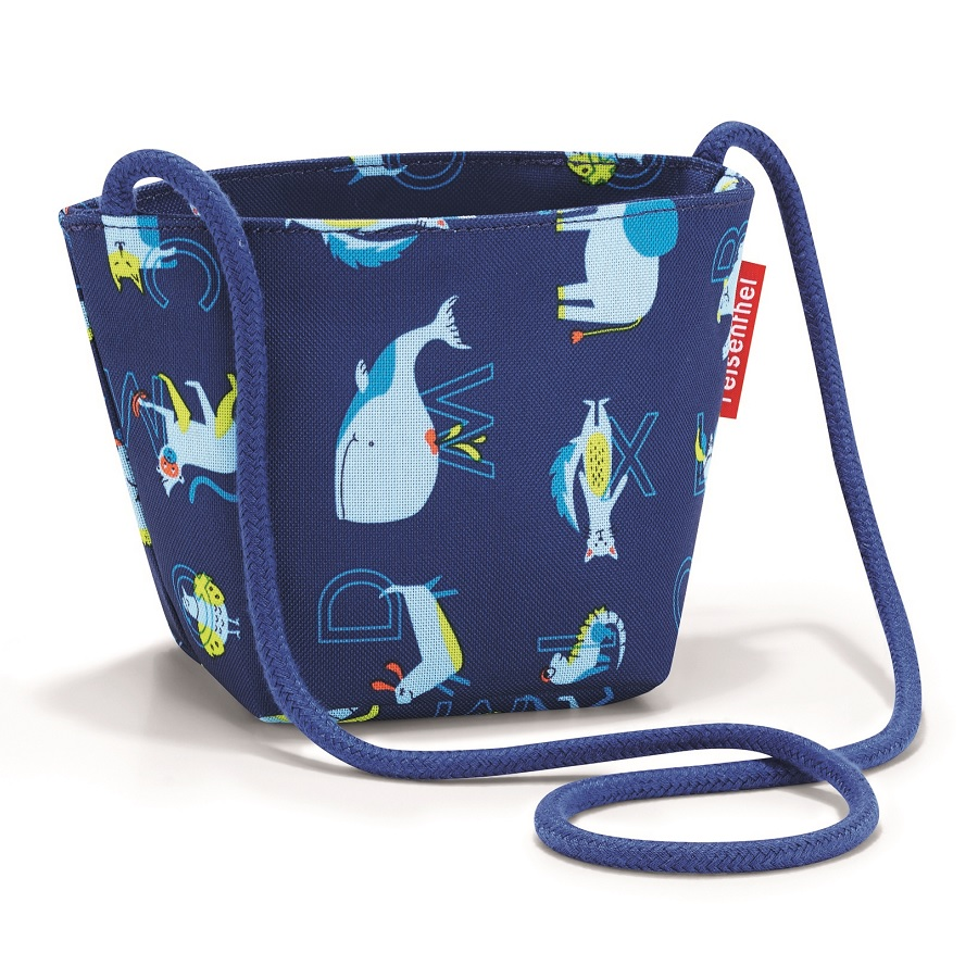 Сумка детская Minibag Abc friends blue, 12x10 см, 21 см, Полиэстер, Reisenthel, Германия, Friends blue