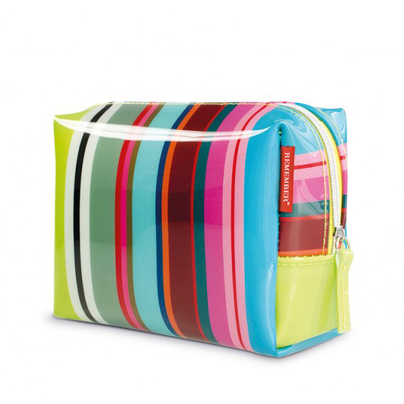 Косметичка Colour stripes, 23х16 см, 10 см, Пластик, Полиэстер, Remember, Германия, Stripes