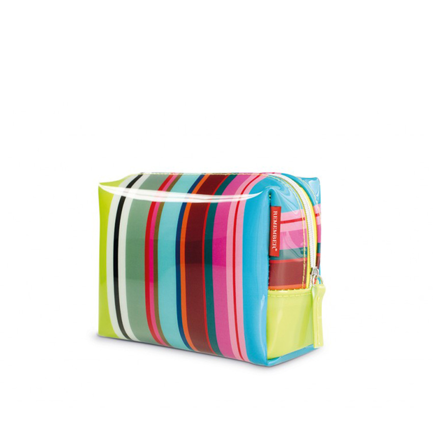 Косметичка Colour stripes, 17х8 см, 13 см, Пластик, Полиэстер, Remember, Германия, Stripes