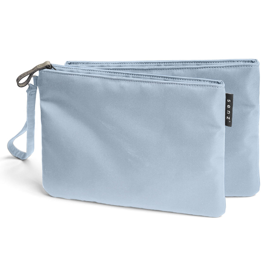 Косметичка Fay powder blue, 24x18 см, Кожа, Полиэстер, SENZ, Голландия