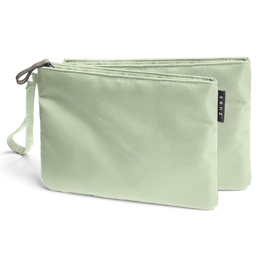 Косметичка Fay powder green, 24x18 см, Кожа, Полиэстер, SENZ, Голландия