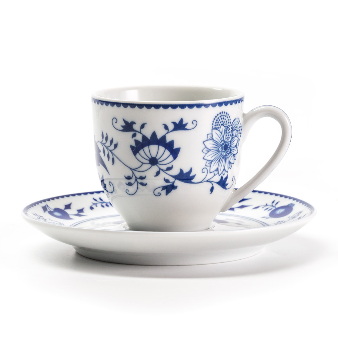 Кофейная пара Onion blue, 100 мл, Фарфор, Tunisian Porcelain, Onion Blue
