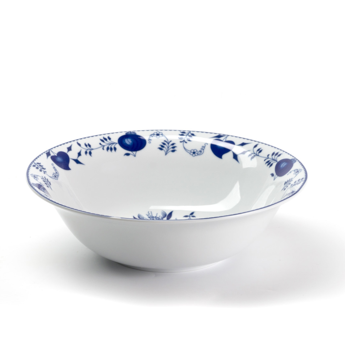 Салатник Onion blue, 25 см, 8 см, Фарфор, Tunisian Porcelain, Onion Blue
